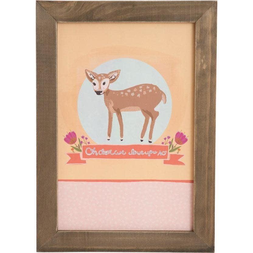 Carpentree Oh Deer Framed Wall Plaque