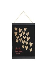 Carpentree Love Each Other Hanging Banner with Tassel
