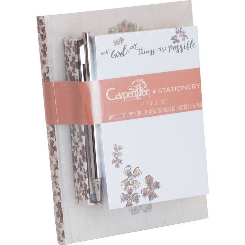 Carpentree With God All Things Stationery Set