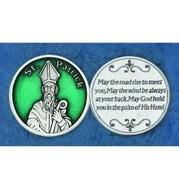 Lumen Mundi Green St. Patrick Pocket Token and Irish Blessing