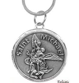 Oremus Mercy St. Michael Stainless Steel Locket