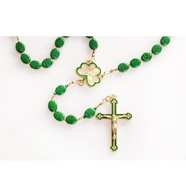 Artisan Jewelry Rosaries St. Patrick Shamrock Bead Rosary Artisan Heirloom Collection