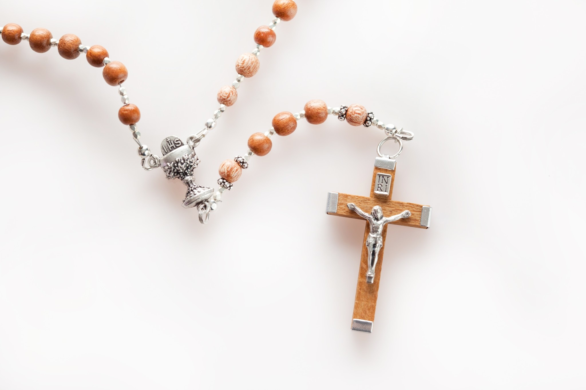 Artisan Jewelry Rosaries Wood 1st Communion Rosary Artisan Heirloom Collection
