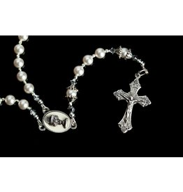 Artisan Jewelry Rosaries White First Communion Rosary Artisan Heirloom Collection