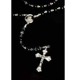 Artisan Jewelry Rosaries Men's Black Rosary Artisan Heirloom Collection