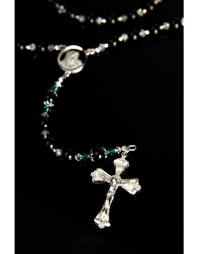 Artisan Jewelry Rosaries Men's Black Rosary Artisan Heirloom Collection