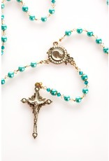 Artisan Jewelry Rosaries Teal Modern Rosary Artisan Heirloom Collection