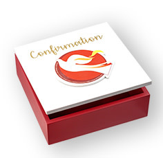 WJ Hirten Confirmation Wooden Keepsake Box