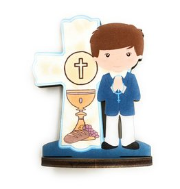 WJ Hirten First Communion Blessings Boys Cake Topper