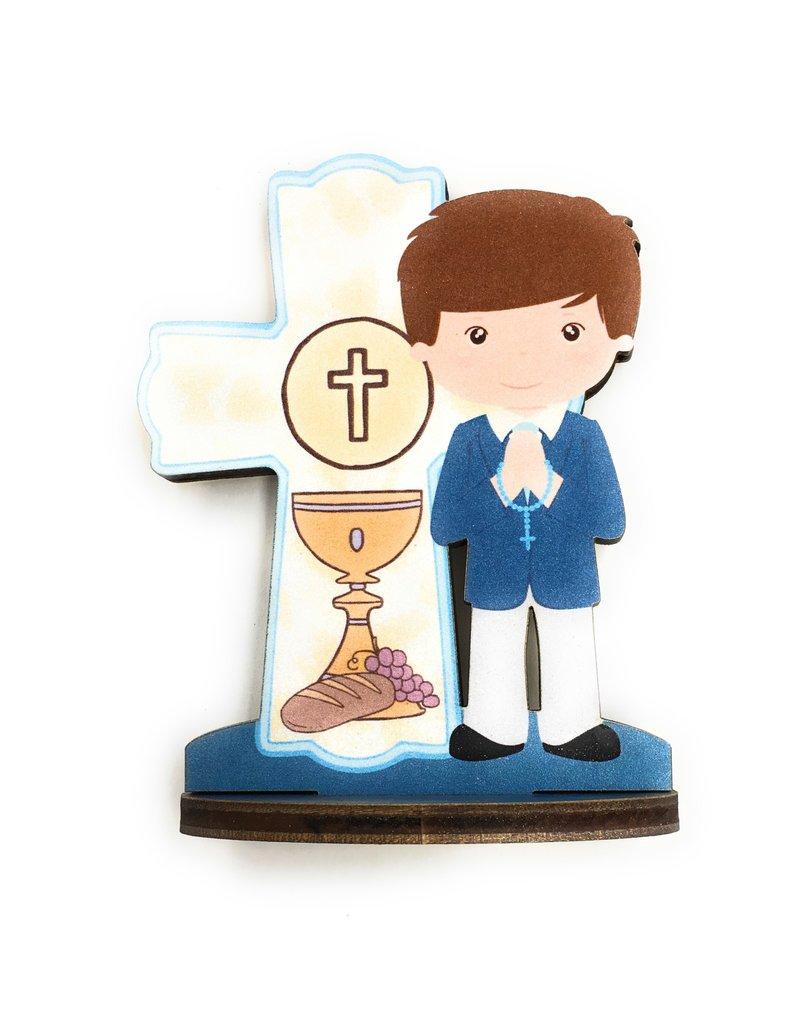 WJ Hirten First Communion Blessings Boys Cake Topper