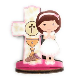 WJ Hirten First Communion Blessings Girls Cake Topper