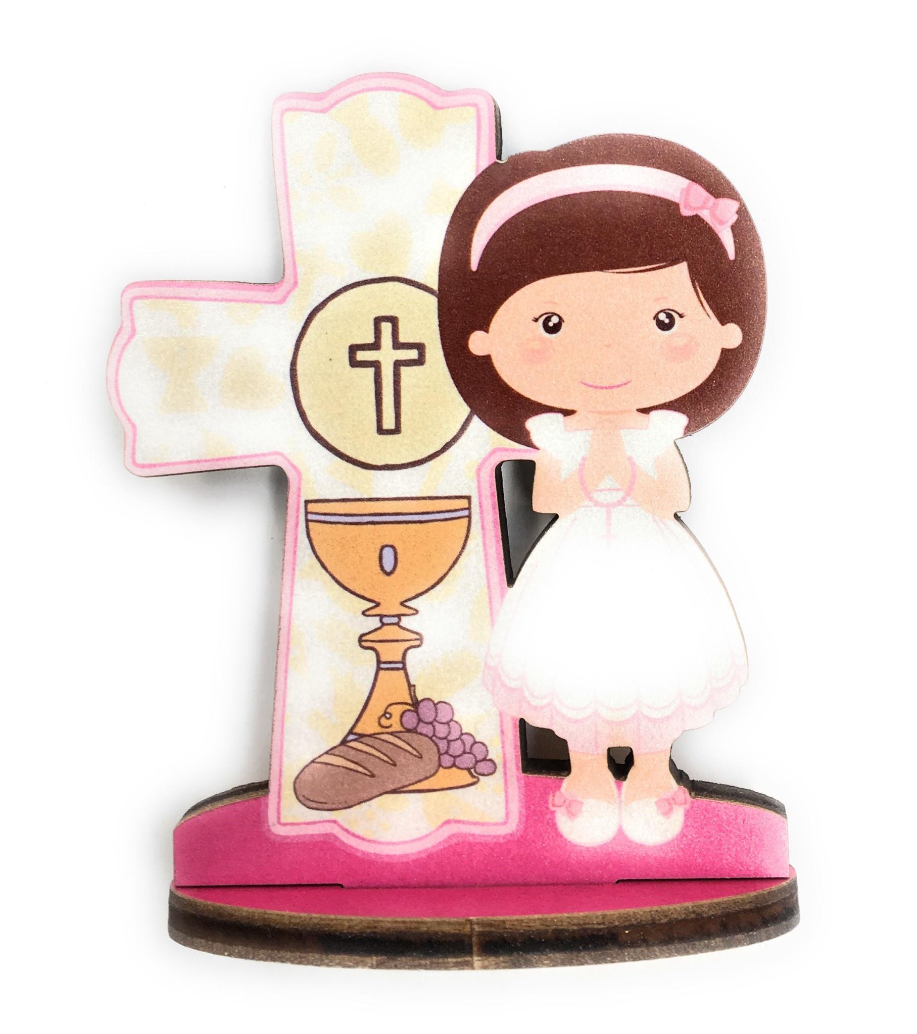 WJ Hirten First Communion Blessings Girls Cake Topper