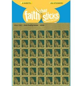 Tyndale House Publishers Sticker-Gold Praying Hands (6 Sheets) (Faith That Sticks)