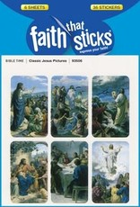 Tyndale House Publishers Sticker-Classic Jesus Pictures (6 Sheets) (Faith That Sticks)