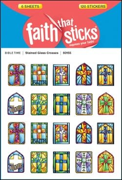 Tyndale House Publishers Sticker-Stained Glass Crosses (6 Sheets) (Faith That Sticks)