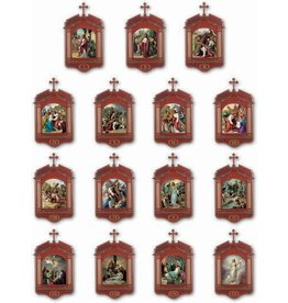 "WJ Hirten 13.25"" x 23"" Deluxe Stations of the Cross Set"