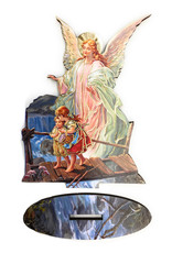 WJ Hirten Guardian Angel Statue with Biography