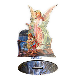 WJ Hirten Guardian Angel Statue with Biography