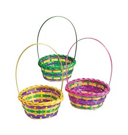 OTC Round Multi-Color Easter Basket (Single Basket)