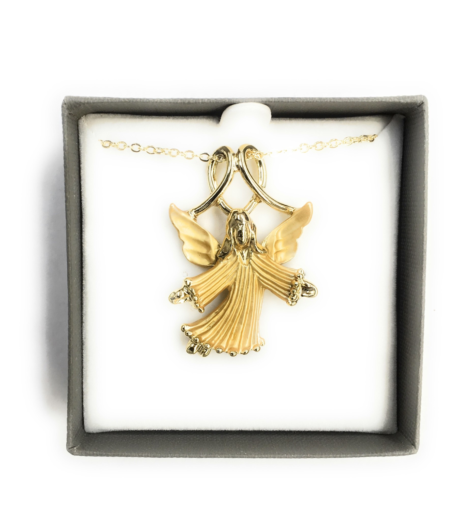 Wallace Brothers Manufacturing Angel Necklace