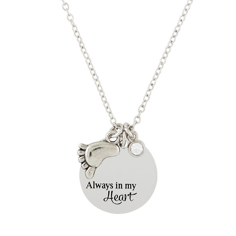 Christian Brands Wonderfully Made ProLife Necklace Baby Foot