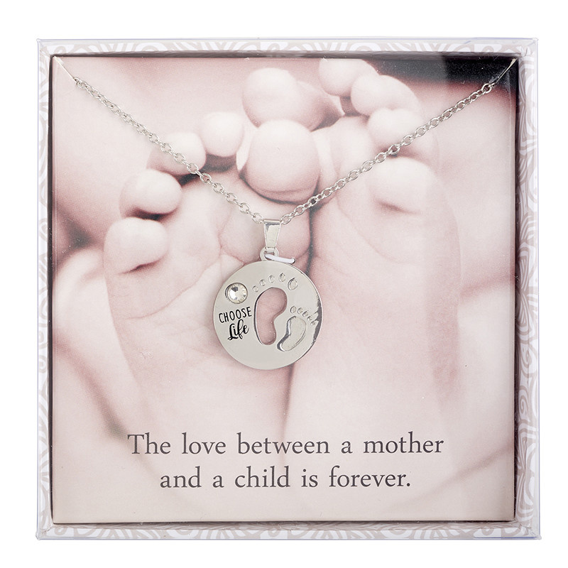 Christian Brands Wonderfully Made ProLife Necklace Mother and Child