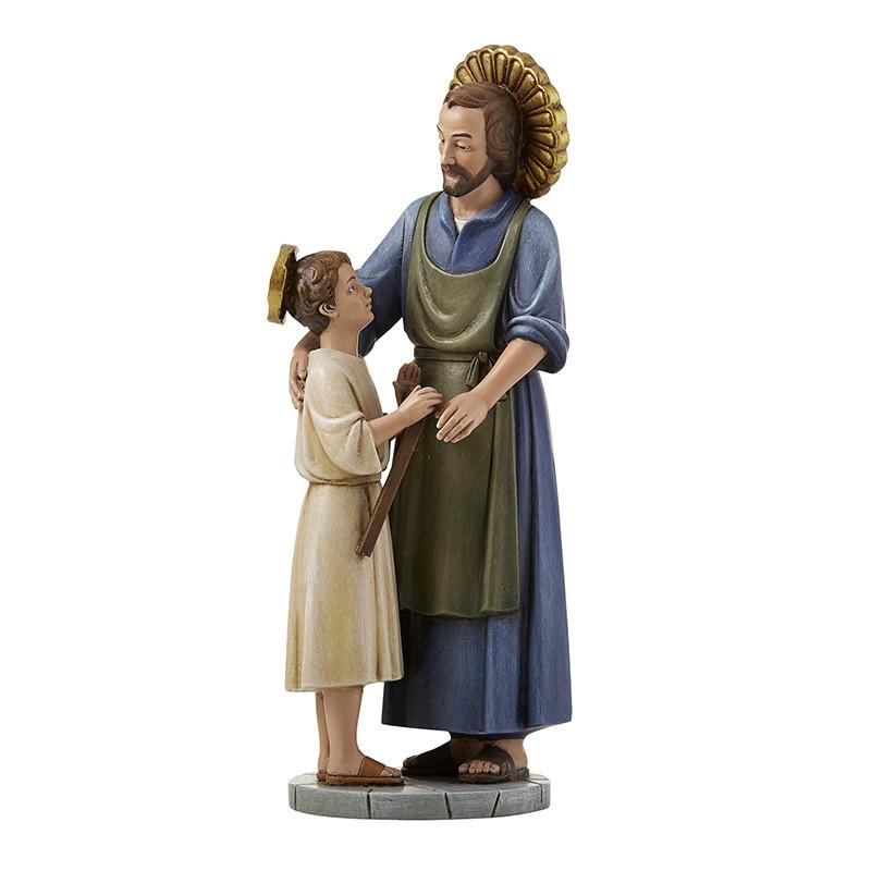 """Christian Brands St. Joseph the Worker 8"""" Hummel Statue of San Jose"""