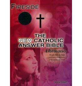 Fireside Catholic Publishing NABRE New Catholic Answer Bible Librosario Edition, Burgundy Imitation Leather