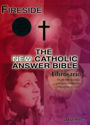 Fireside Catholic Publishing NABRE New Catholic Answer Bible Librosario Edition, Burgundy Imitation Leather