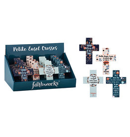 """Christian Brands Mini Cross Gift of Faith 4"""" Wooden"""