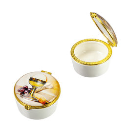 WJ Hirten Porcelain and Glass First Communion Chalice Keepsake Box