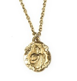 "Gold filled St. Jude Medal on 18"" Chain"