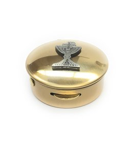 "Simply Catholic Brass Chalice Pyx (Size 1, 6-9 Hosts, 1/2"" x 1 1/2"")"