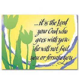 The Printery House Deuteronomy 31:6 Encouragement Greeting Card