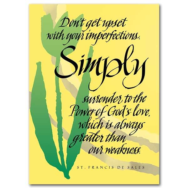 The Printery House St. Francis de Sales Encouragement Greeting Card