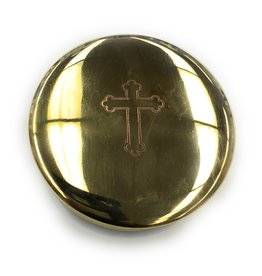 Religious Art Inc Sudbury Brass Cross Pyx (Size 4, 40-50 Hosts)