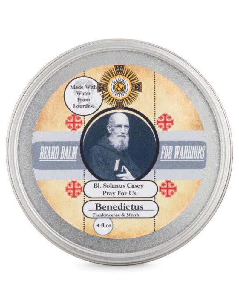 Glory and Shine Frankincense & Myrrh Beard Balm 4 oz Tin