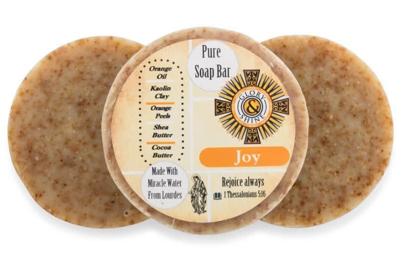 Glory and Shine Orange Organic Joy Soap Bar 3.5 oz