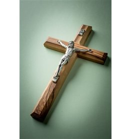 EarthWood Olive Wood Carved Crucifix