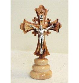 """EarthWood Jerusalem Crucifix with Round Base 4"""""""