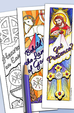 Illuminated Ink Catholic Bookmarks First Communion