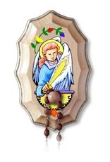 Illuminated Ink Wooden Rosary Holder St. Michael the Archangel