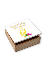 WJ Hirten First Holy Communion Wooden Keepsake Box