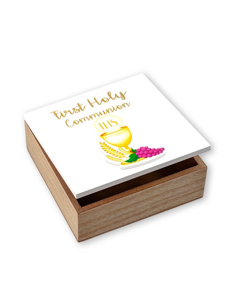WJ Hirten First Holy Communion Wooden Keepsake Box