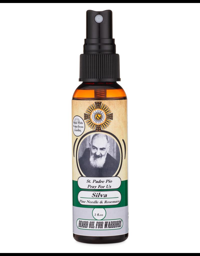 Glory and Shine Silva Pine Needle and Rosemary Beard Oil 2 oz Bottle