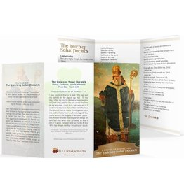 "Full of Grace USA The Lorica of St. Patrick Trifold Holy Cards - Original Wallet Size (3"" X 5"")"