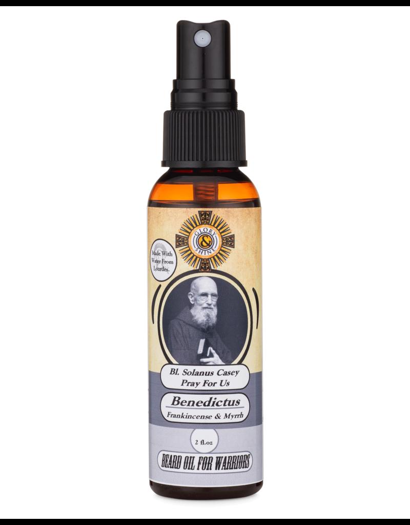 Glory and Shine Benedictus Beard Oil 2 oz Bottle
