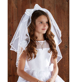 """Christian Brands 26"""" First Communion Veil with Pearls and Comb"""