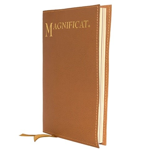 Magnificat Large Print Tan Leather Cover