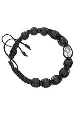 McVan Black Wood Bead Communion Bracelet